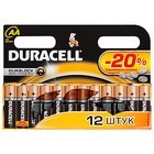 Элемент питания Duracell LR6-12BL BASIC NEW (12шт. в блистере)