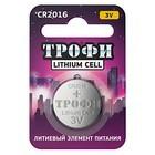 Элемент питания Трофи CR2016-1BL