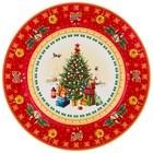 """85-1604 Тарелка закусочная """"С Новым Годом!"""" Елка (красная)"""