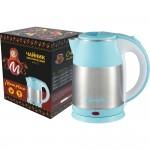 Чайник МАТРЕНА МА-121 стальной голубой (007364)